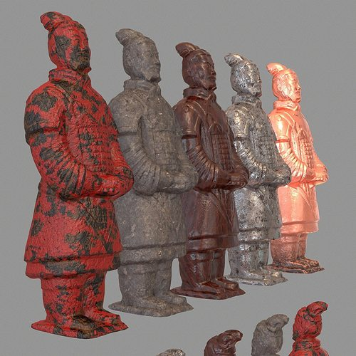 Warriors Orochi 3 Ultimate Delete Save Data: 3D Printable Model Terracotta Warrior Variations
