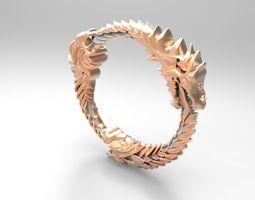 3d print model ring dragon