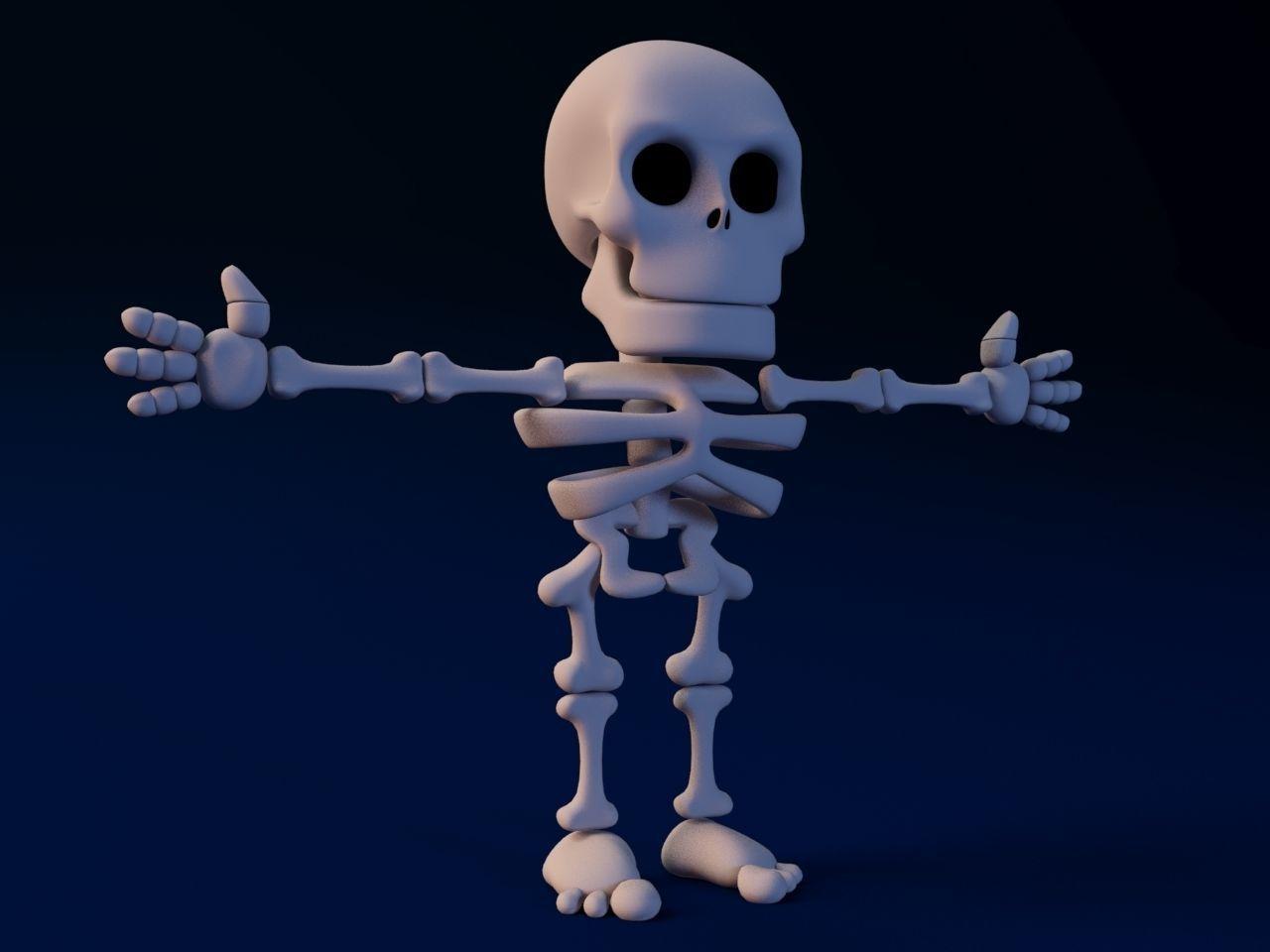 Cartoon Skeleton Not rigged