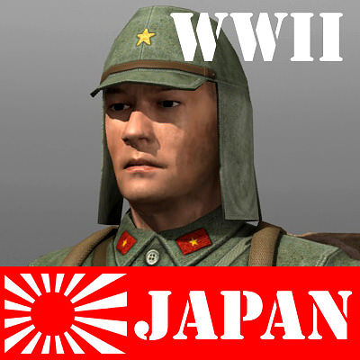 Japanese soldier and Type 100   3D model