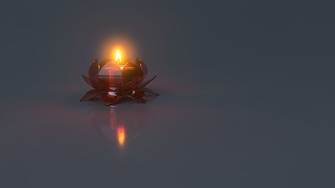 Lotus flower themed Candle light holder