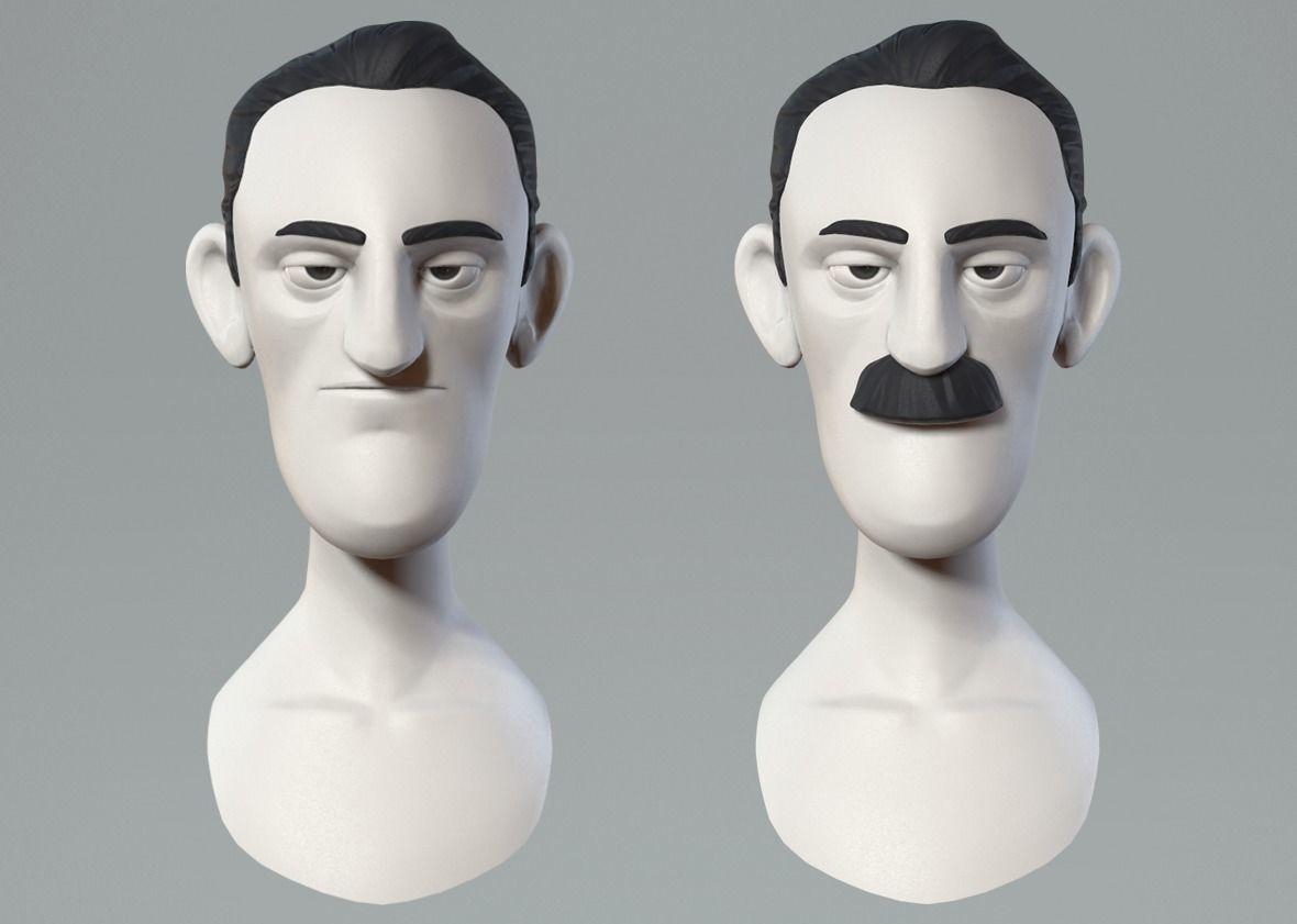Cartoon male character base mesh