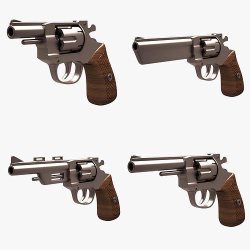 revolver set 001 3d model max obj mtl fbx unitypackage prefab 1
