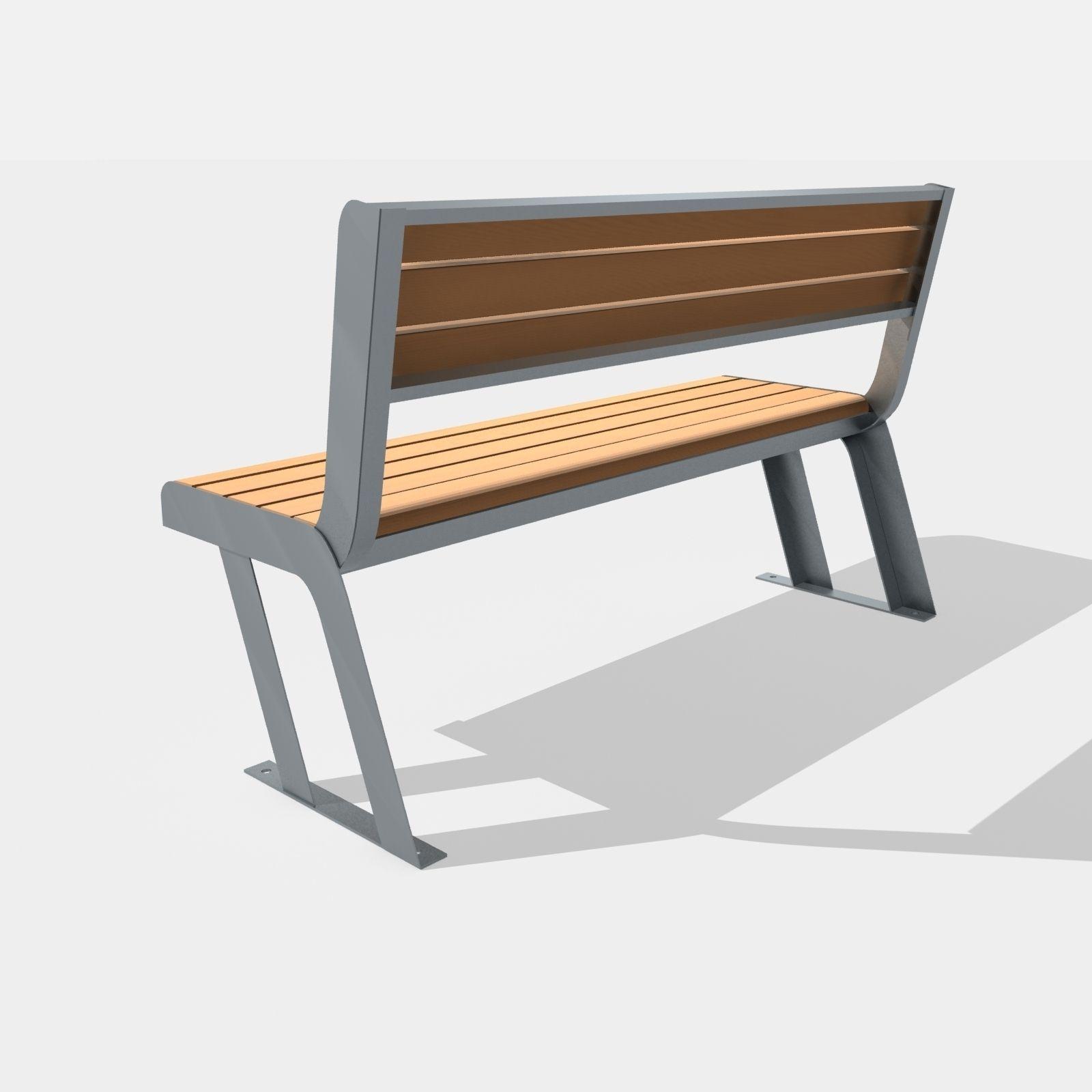 Bench Street Chair 3D asset