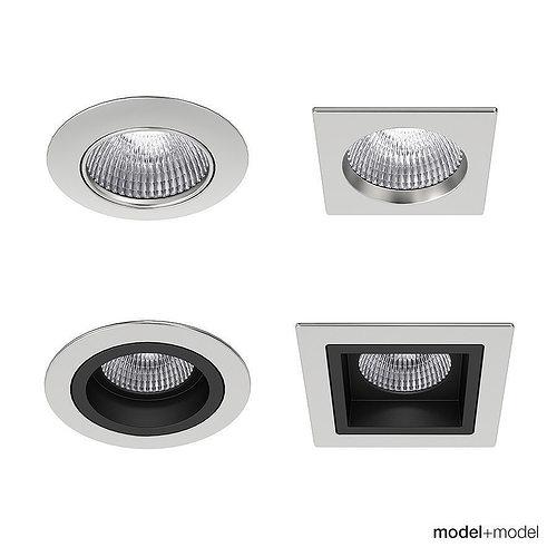 recessed spotlights 3d model max obj mtl fbx mat 1