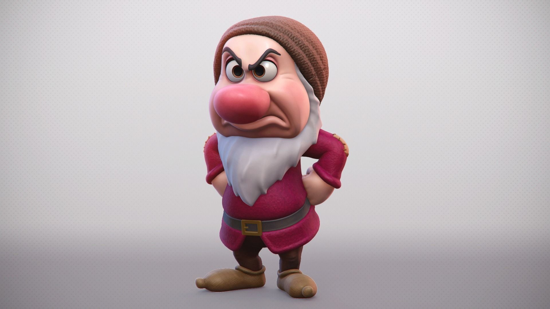 Grumpy One Of The Seven Dwarfs Printable Character