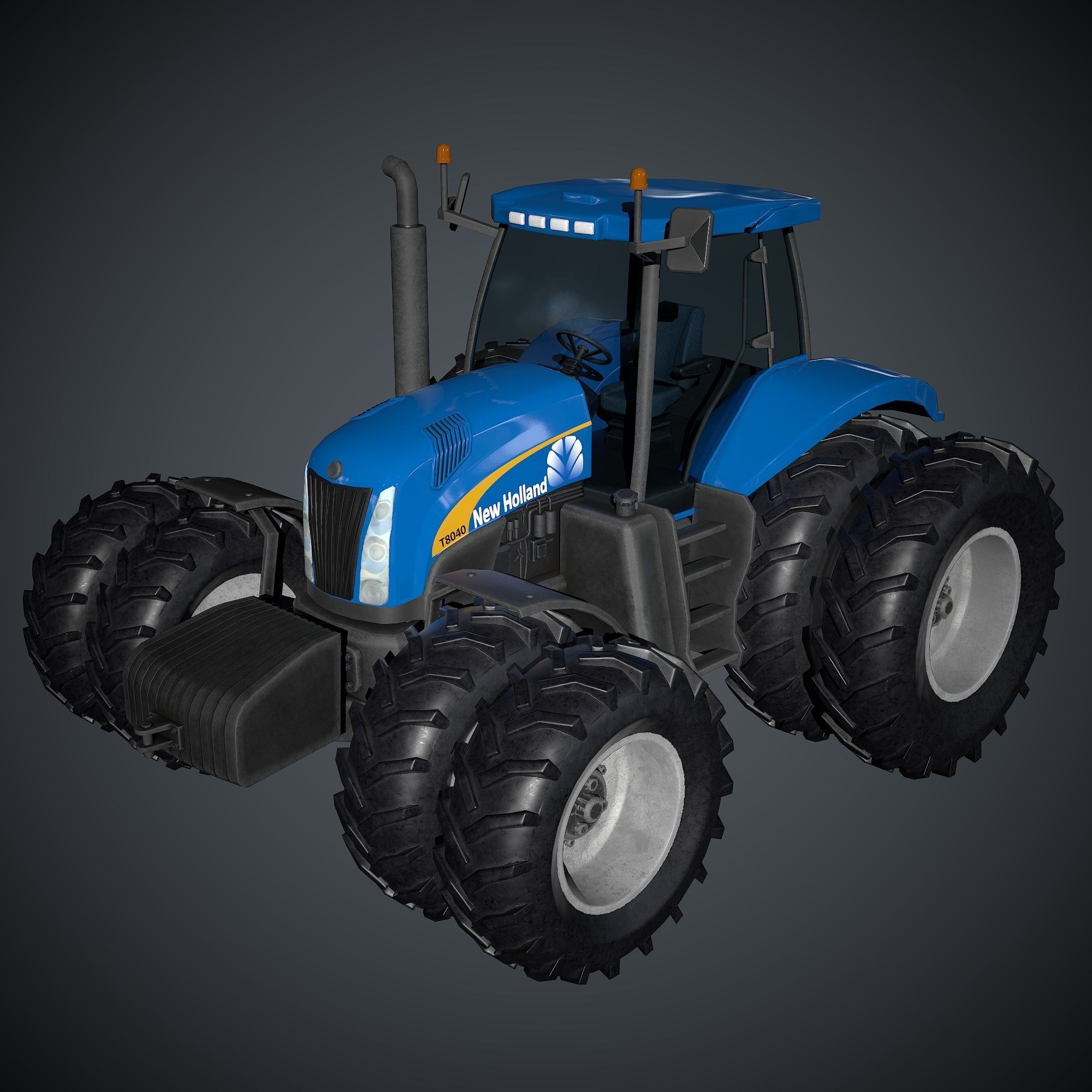 New Holland T8040 Low Poly