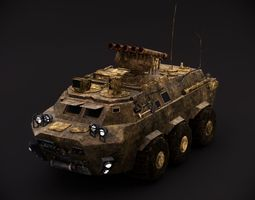 3d model armored personal carrier