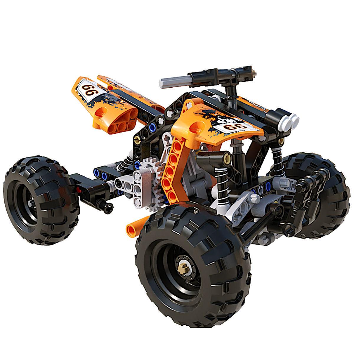 LEGO Quad Bike 3D model | CGTrader