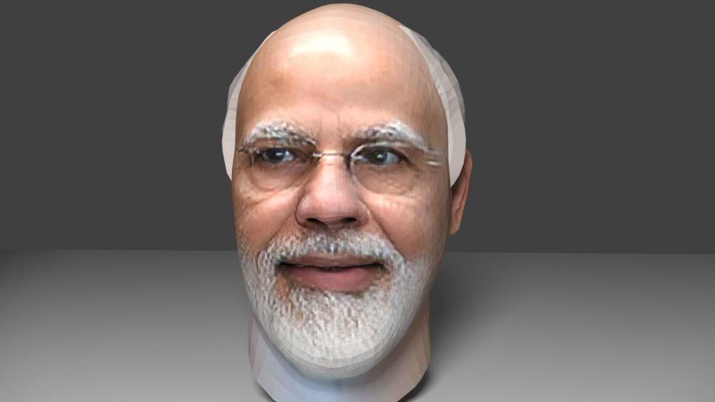 narendra modi head 3d model
