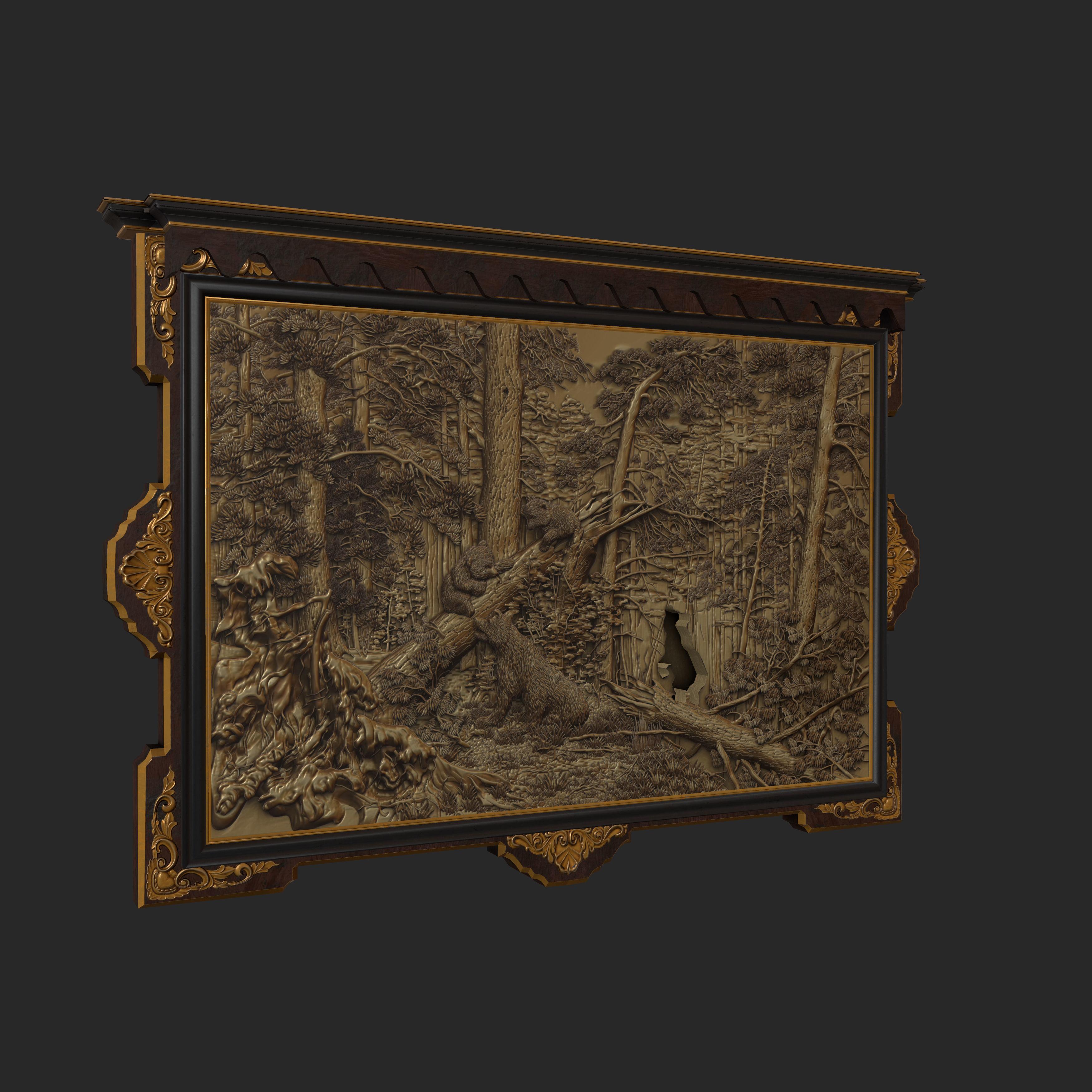 Antique Puzzle Frame