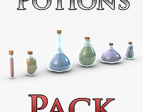 3D Low poly potions pack