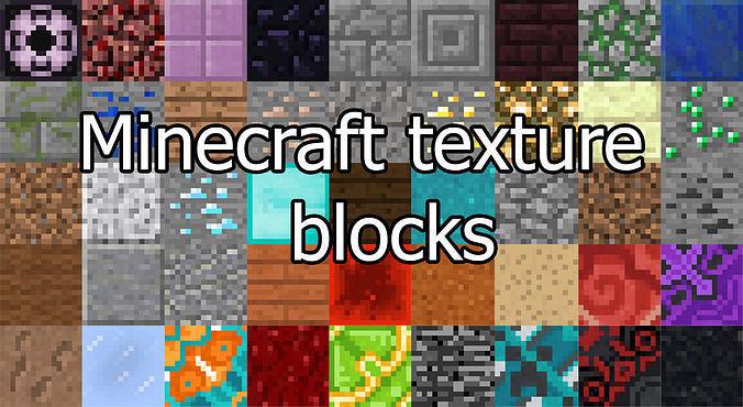 Minecraft texture blocks