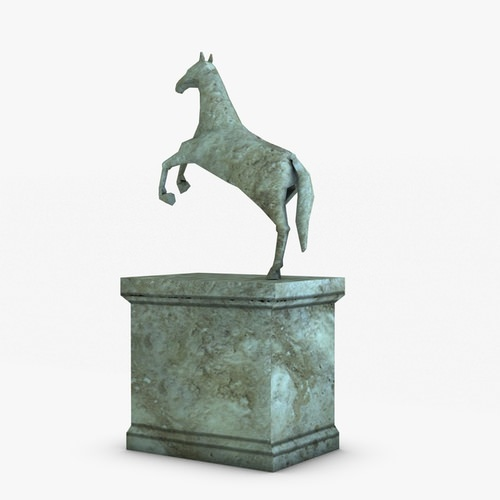 small horse statue 3d - photo #20