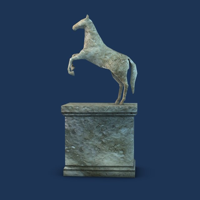 small horse statue 3d - photo #10