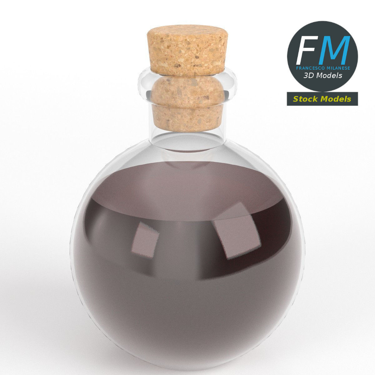 Spherical potion flask