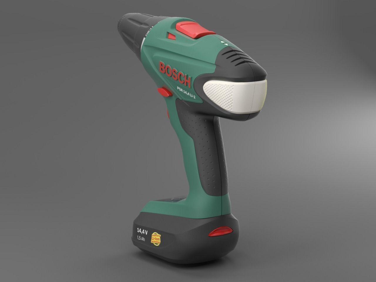 cordless drill screwdriver bosch psr 14 4 3d model max. Black Bedroom Furniture Sets. Home Design Ideas