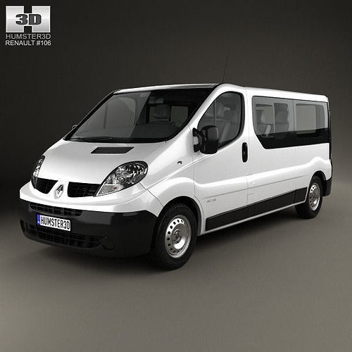 Renault Trafic Van Gvw: 3D Renault Trafic Passenger Van LWB 2010