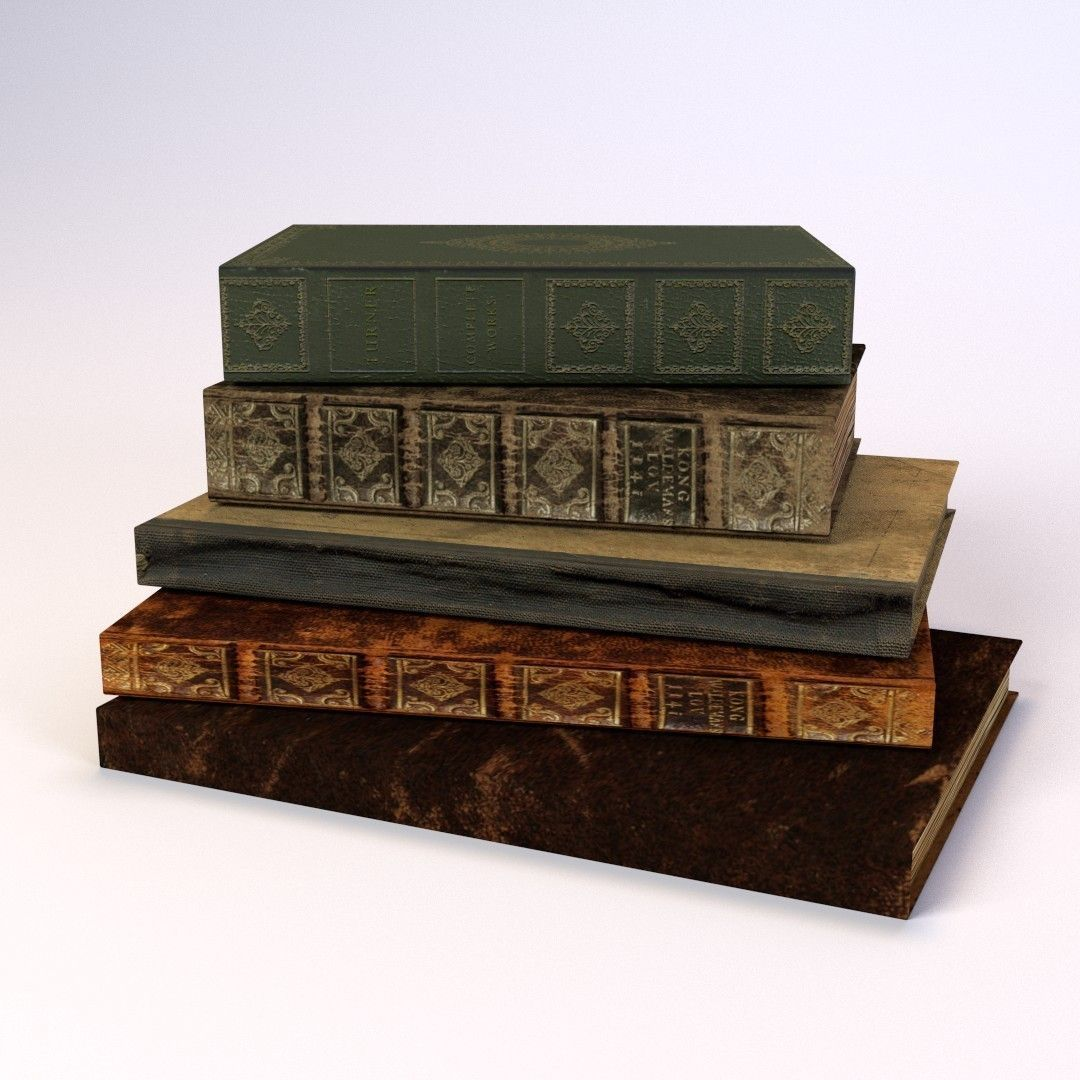 Old Books LOW POLY