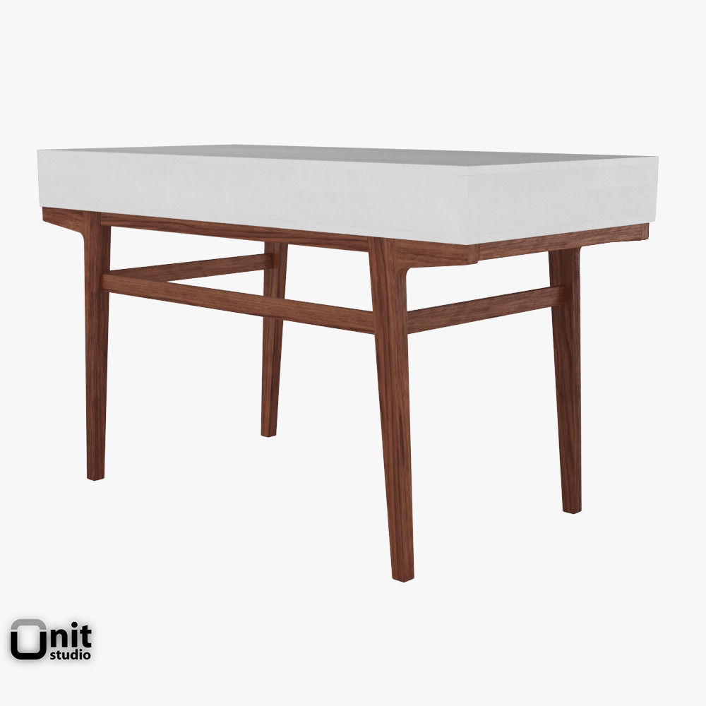 Modern Desk By West Elm 3d Model Max Obj 3ds Fbx Dwg Unitypackage 3