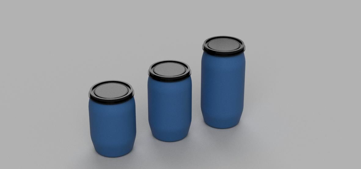 Pack Gallon Plastic Drum Diorama 1-43 scale 3d print model