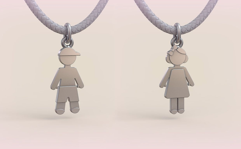Pendant Boy and Girl 06