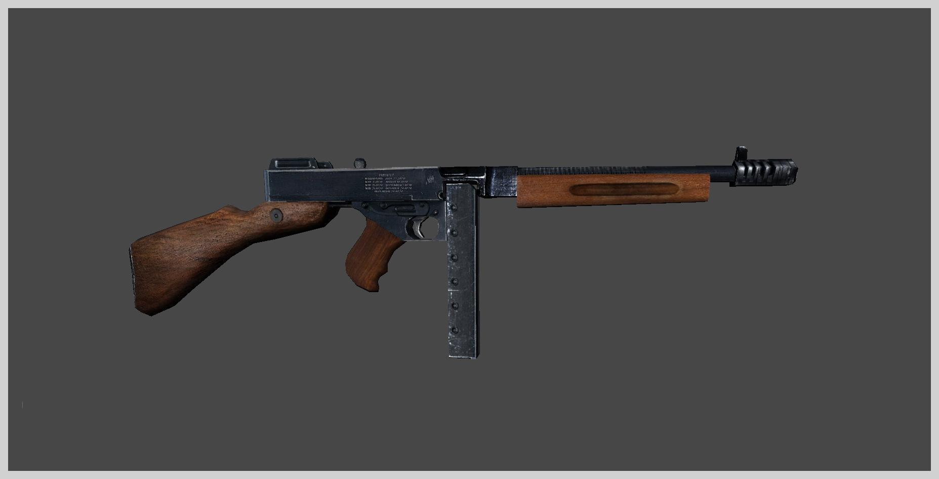 6455aee3aa0f ... thompson submachine gun 3d model low-poly max obj mtl fbx tga mat 8 ...