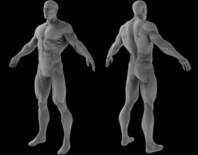 Superhero Base Mesh 3D model game-ready