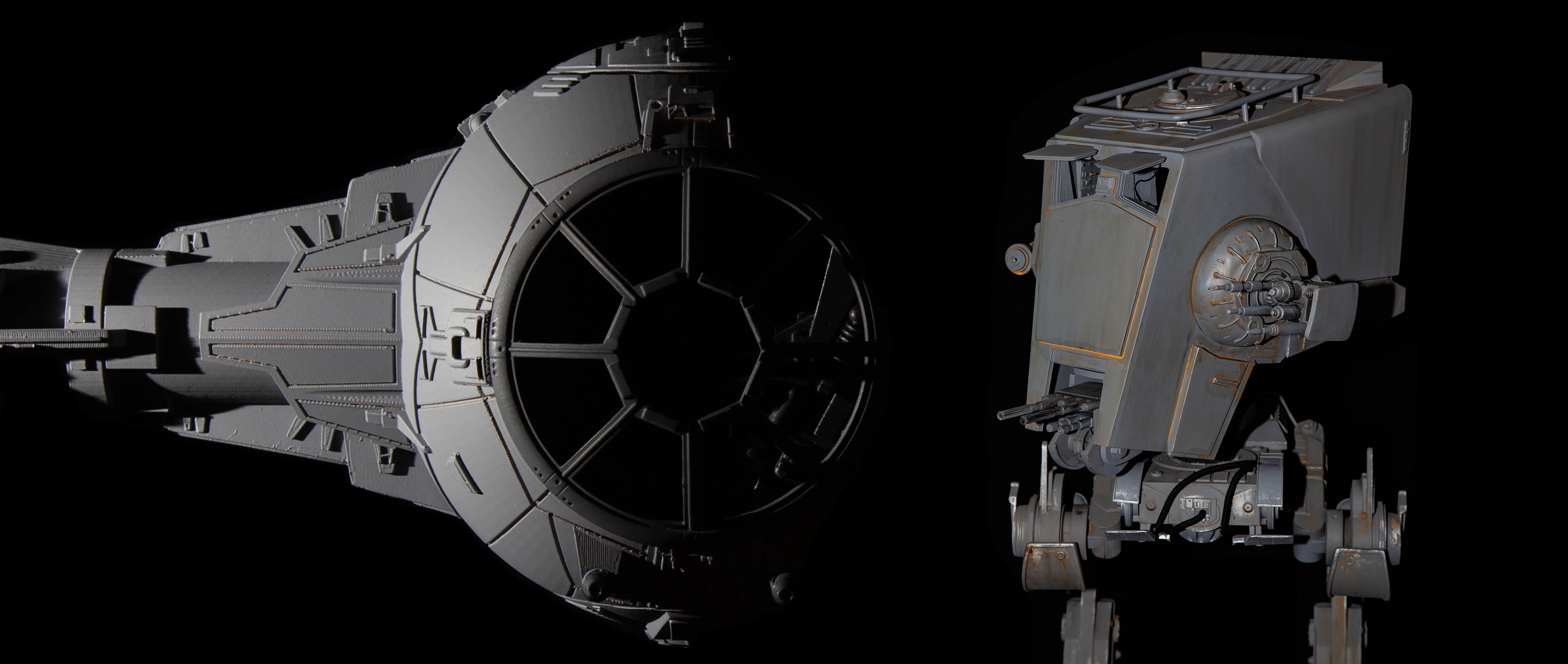 Starwars AT-ST and Tie Fighter collection