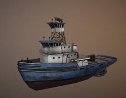 realtime 3d model ship tug