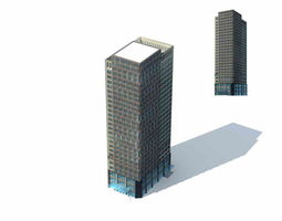 large city commercial street office building design  239 3d model max