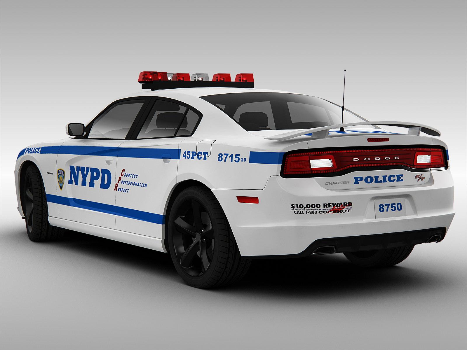 dodge charger nypd police car 2013 3d model max obj 3ds fbx. Black Bedroom Furniture Sets. Home Design Ideas