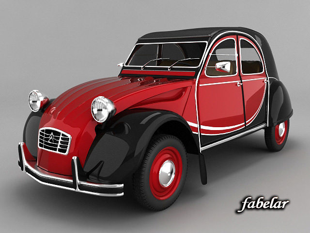 citroen 2cv charleston 3d cgtrader. Black Bedroom Furniture Sets. Home Design Ideas