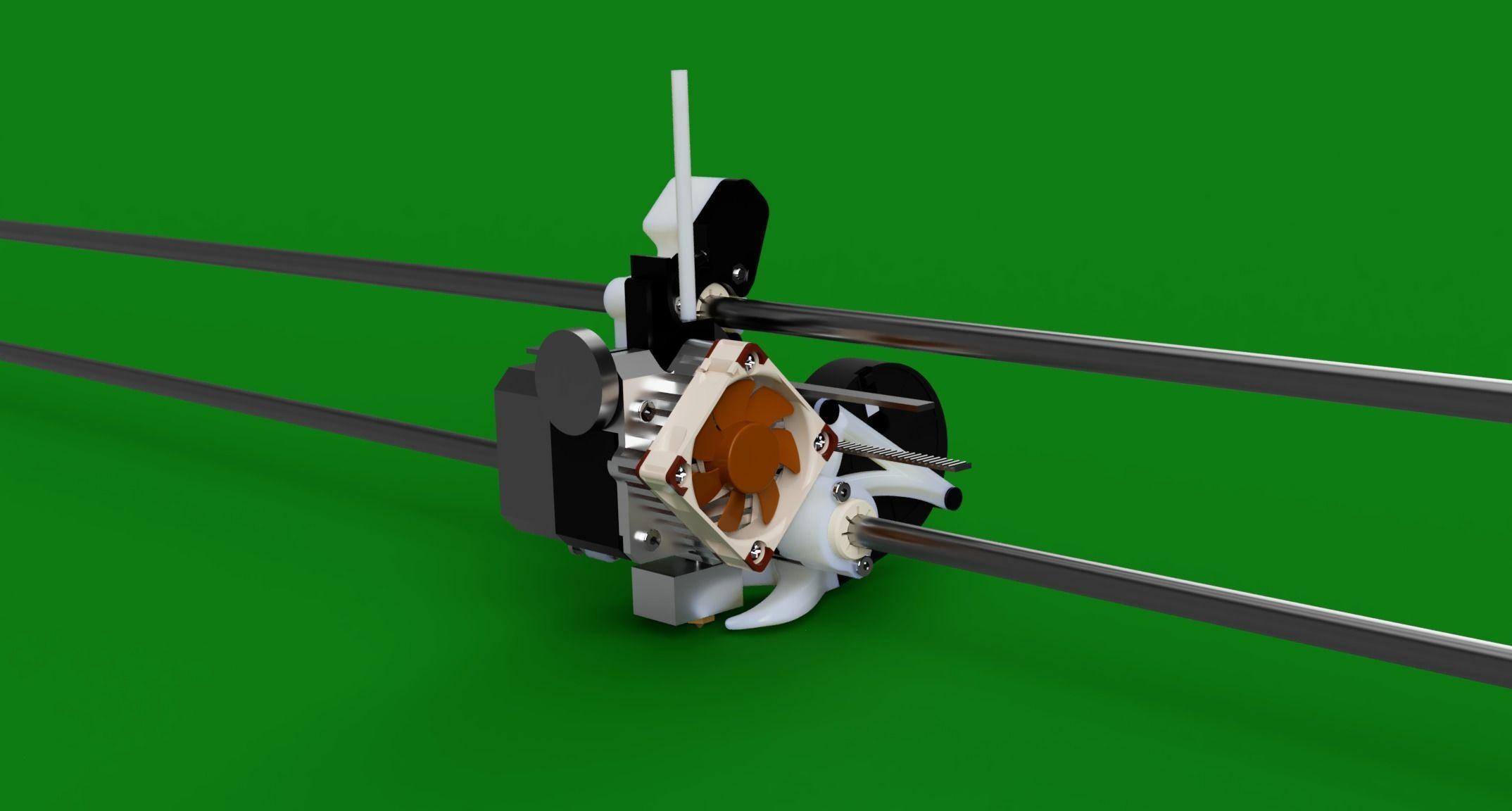 Titan Aero Mount V3 both versions for Anycubic i3-Mega