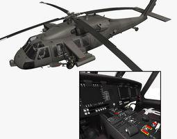 UH-60M Battlehawk with nice interior 3D Model