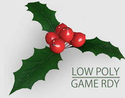 Low Poly Mistletoe 3D model