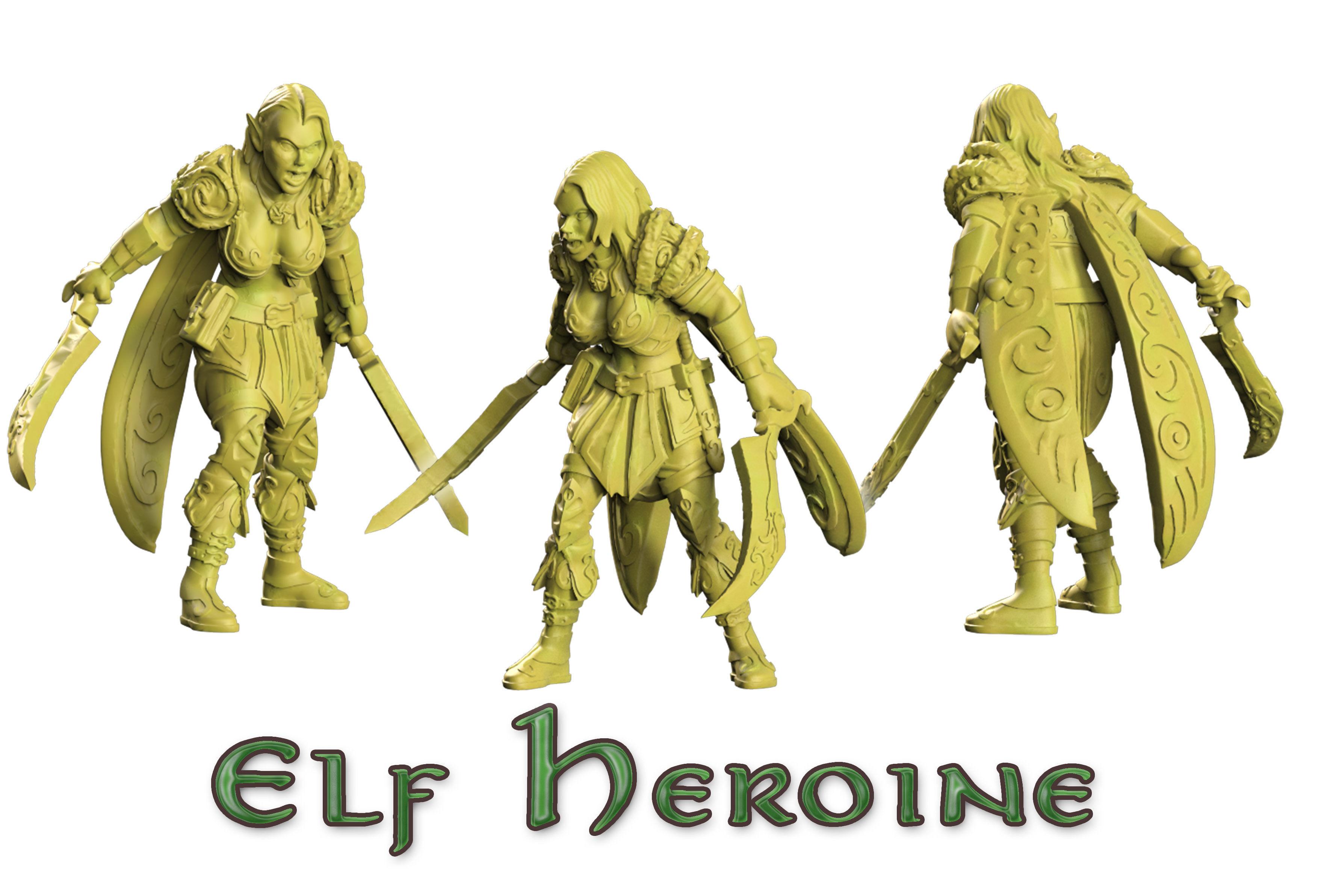 Heroine of wood elf