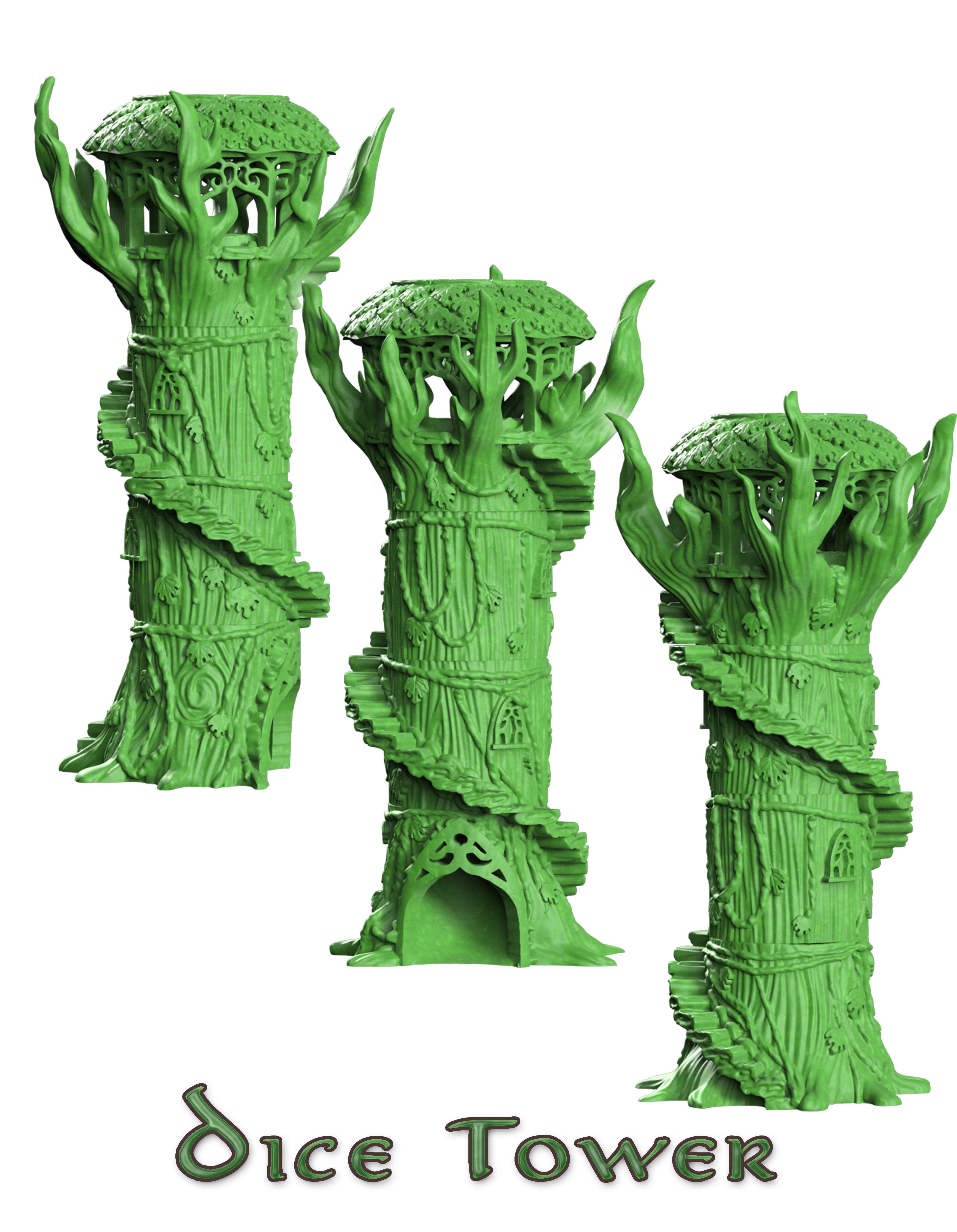 Dice tower wood elf