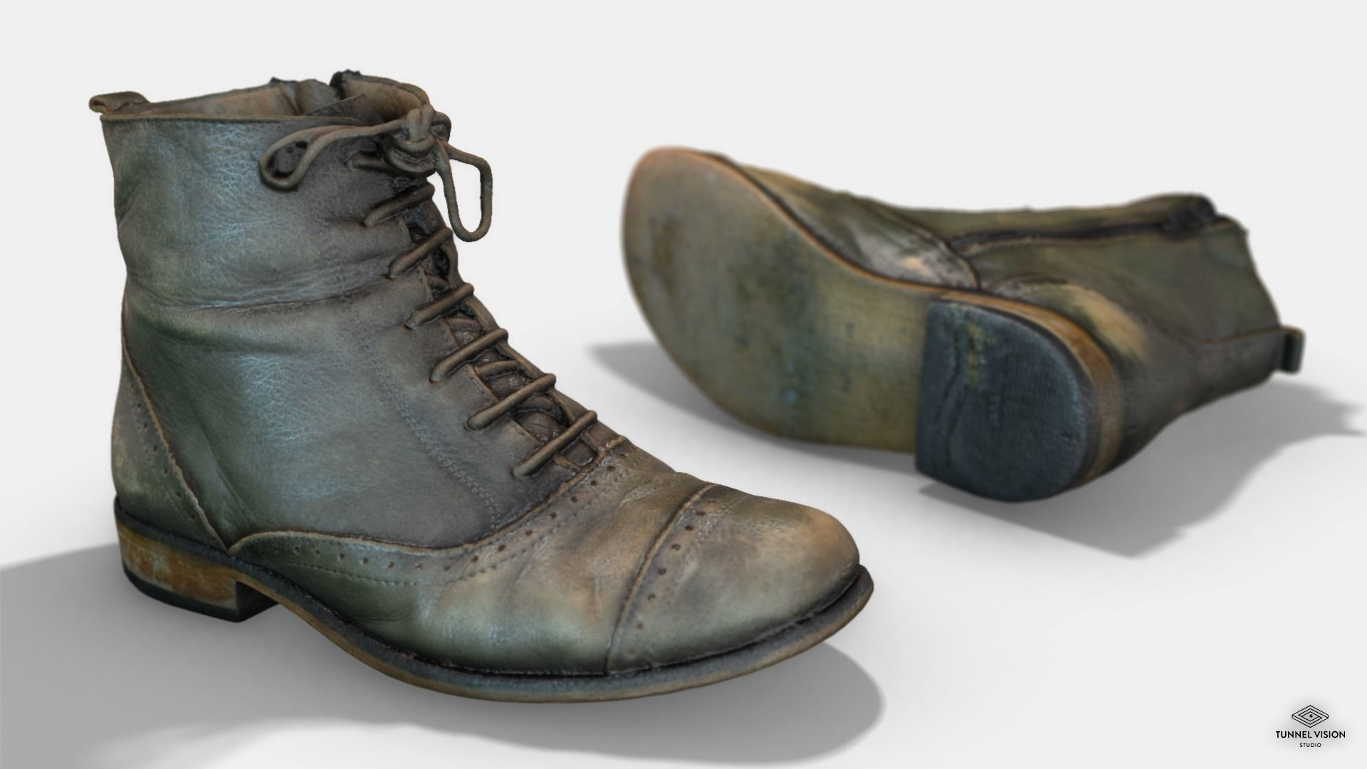 Photoscanned Female Ankle Boots