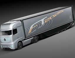Mercedes-Benz FT 2025 Future Truck with trailer 3D Model