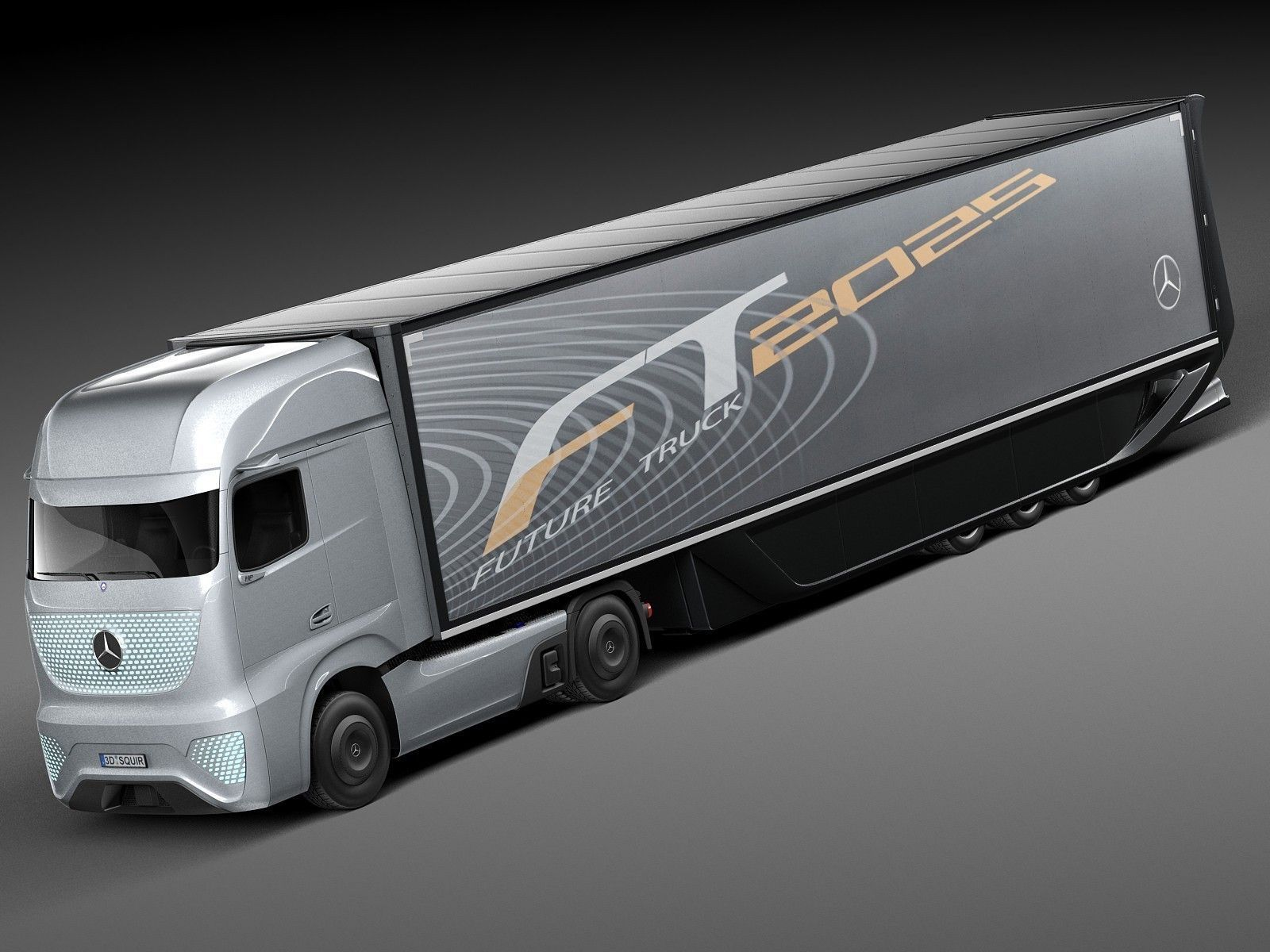 Mercedes benz ft 2025 future truck with tr 3d model max for Upcoming mercedes benz models