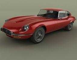 3D Jaguar E-Type coupe V12 series 3