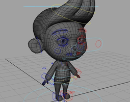 rigged 3d little boy rig