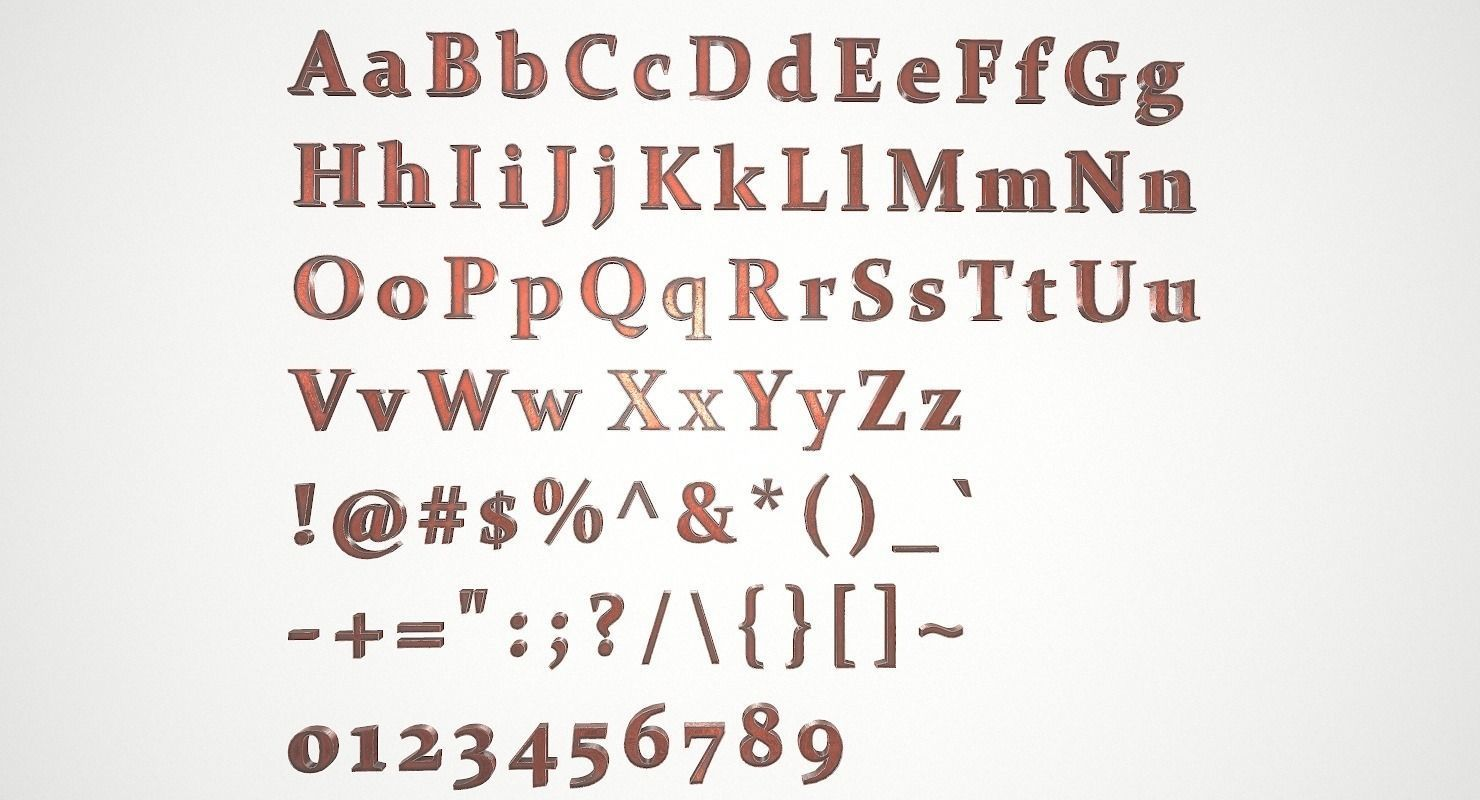 English Letters - Copper Red
