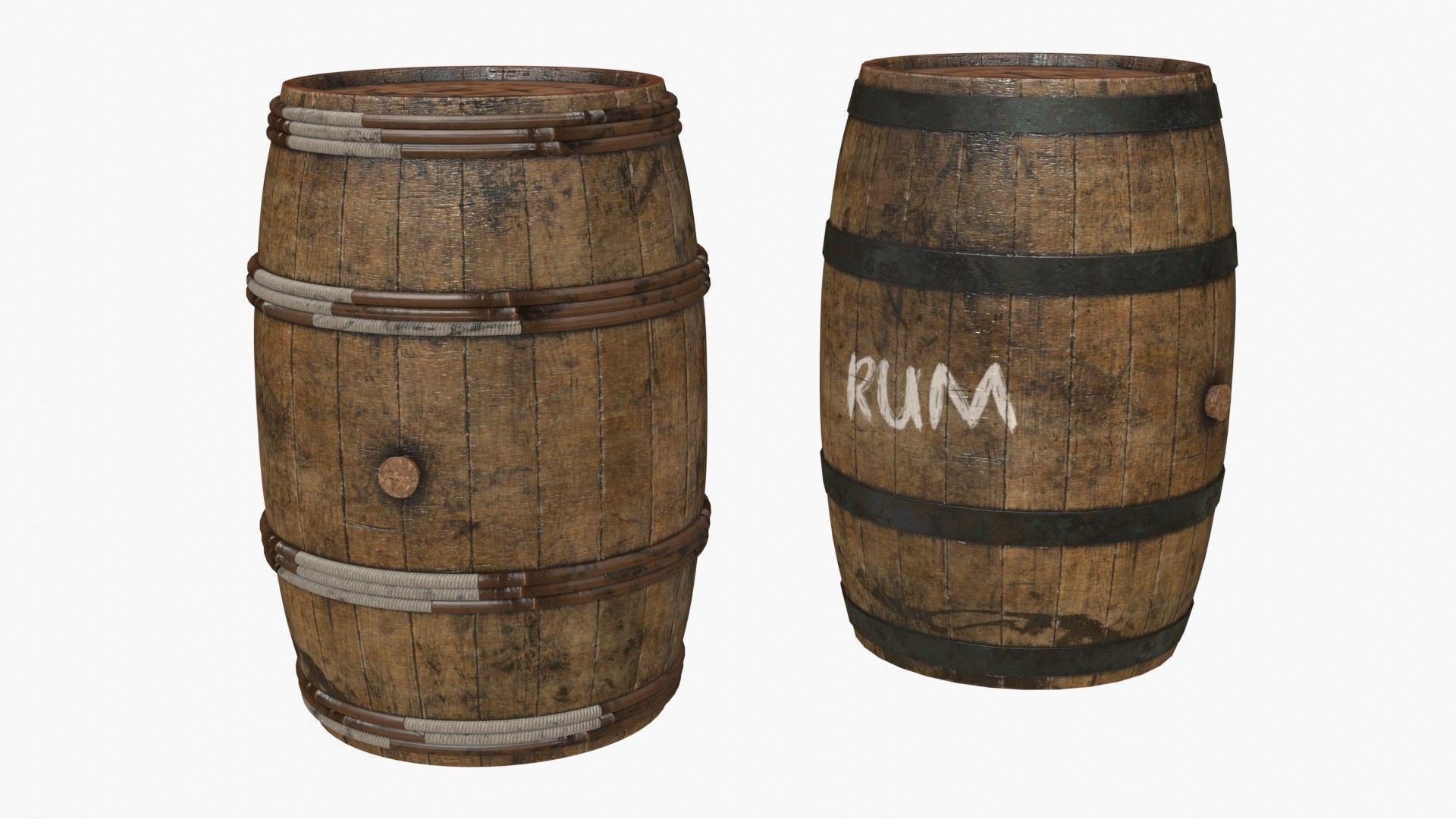 Wooden Barrels Assets 5