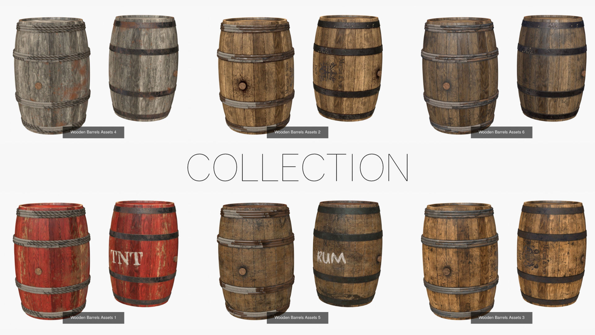 Wooden Barrel Assets Collection