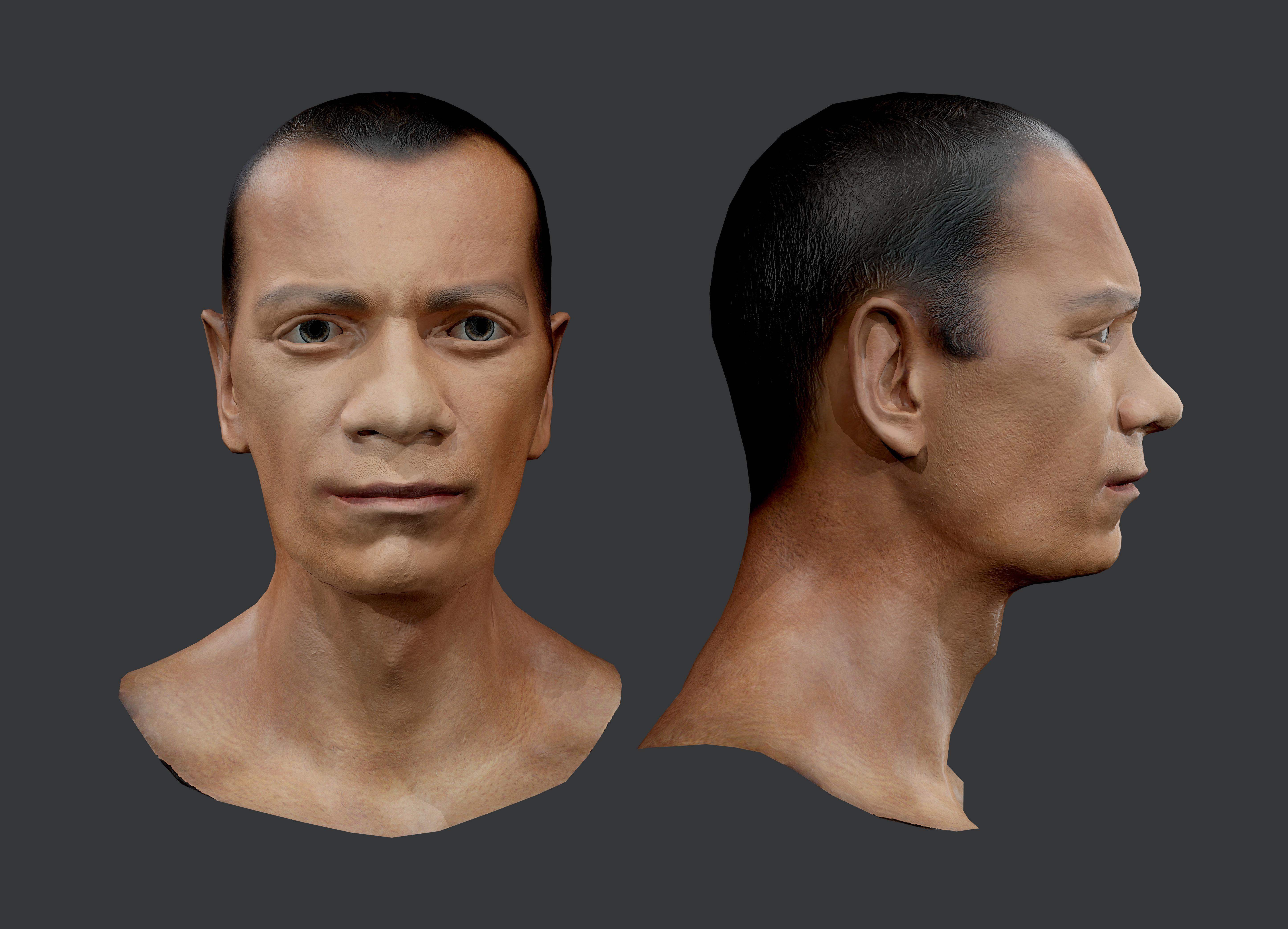 Male Human Character Head Game Ready 03
