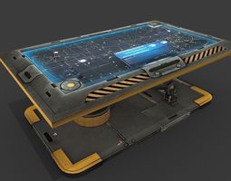 3D asset Sci Fi Hologram Table
