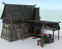 3D asset Medieval Village Blacksmith