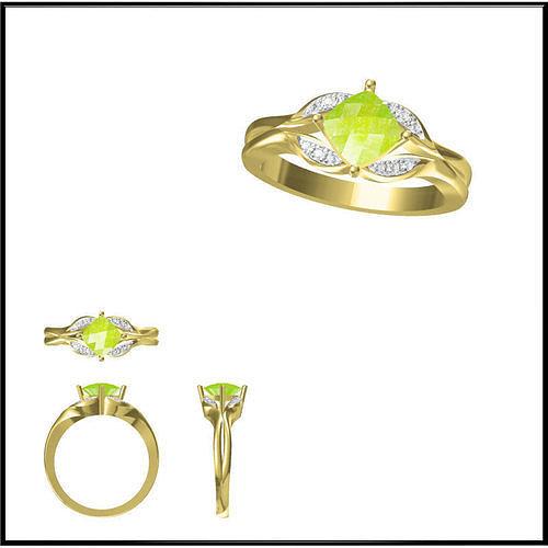 elegant-gold-color-stone-rings-cad-cam-j